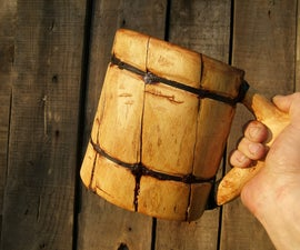 'Viking' beer mug (no power tools - the bushcraft way)