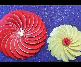 How to Make Easy Paper Spiral Flower for DIY Projects
