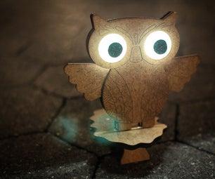 Cute Magnetic Owl Lamp