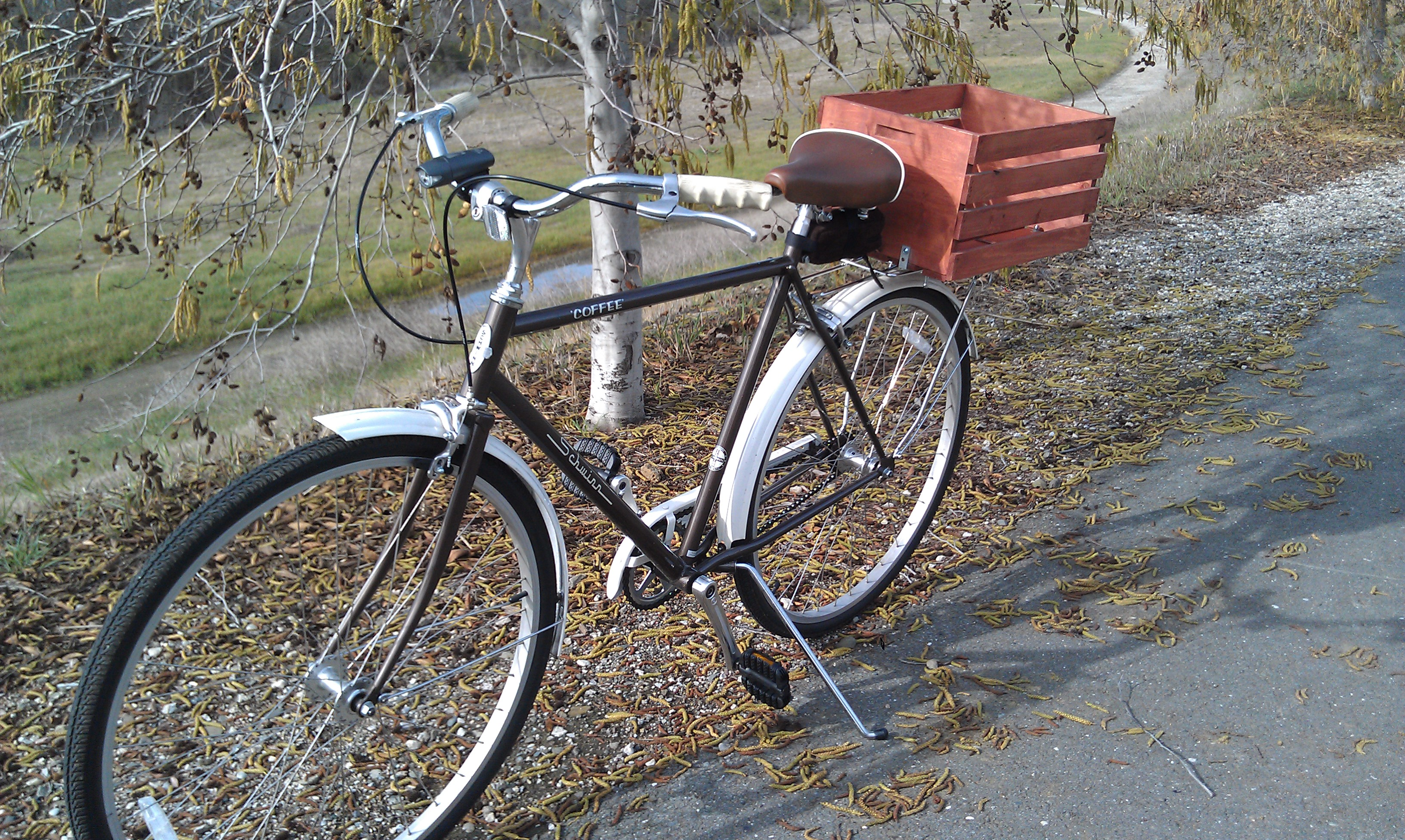 Picture of Wooden Bike Basket