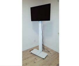 Floor Model TV Stand on Wheels