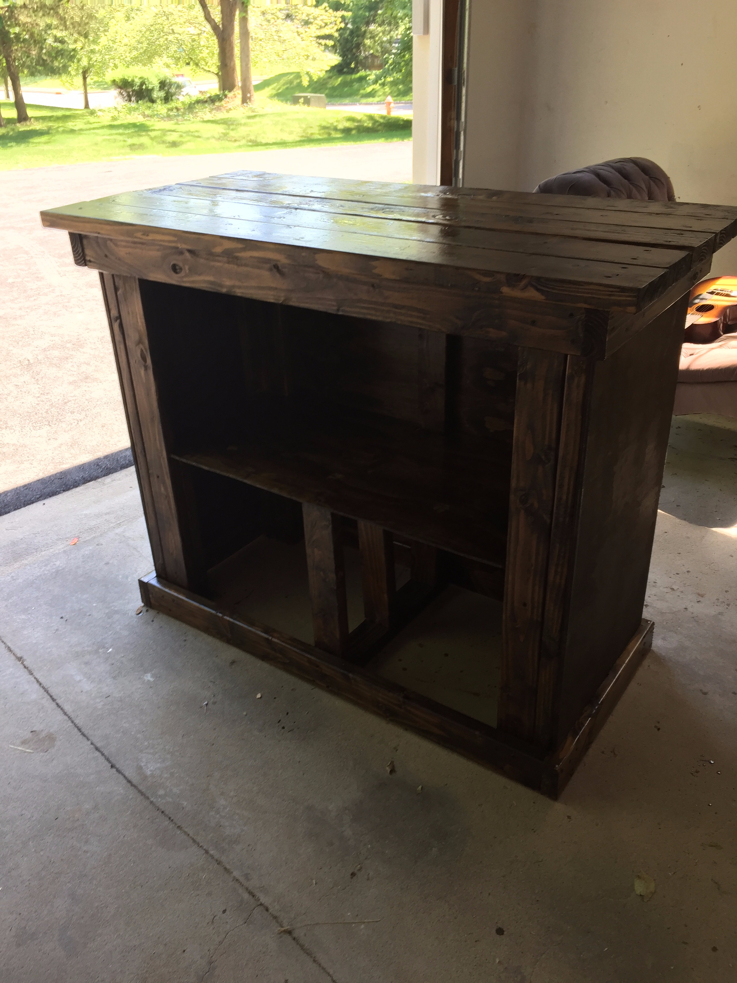 Picture of Outdoor Patio Bar With Shelf