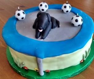 Dog on Trampoline Cake
