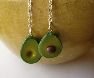 Polymer Clay Miniature Avocados (with Skinner Blend Instructions)
