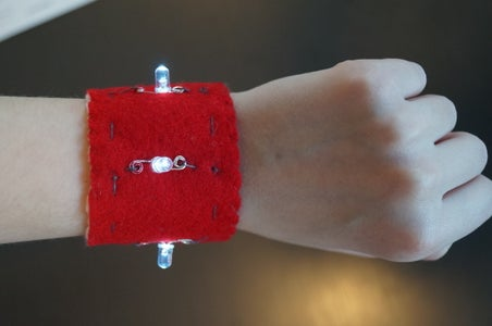 LED Conductive Switch Bracelet