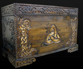 Celtic Knot Blanket Box