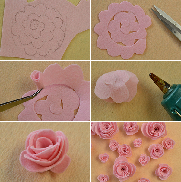 Picture of Make the Pink Felt Rose