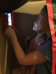 Duct Tape and Cardboard Photobooth
