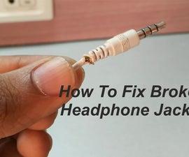 How to Fix Broken Headphone Jack !