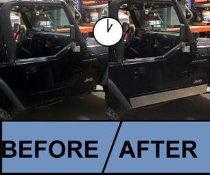Jeep TJ Rocker Panels in 1 Hour