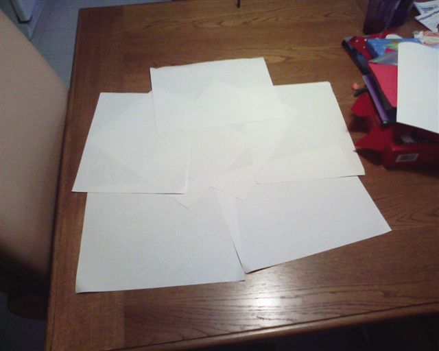 Picture of Laying Paper Down