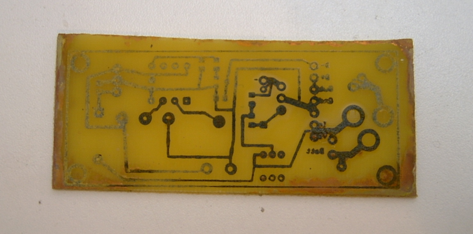 Picture of Circuit Board Etching