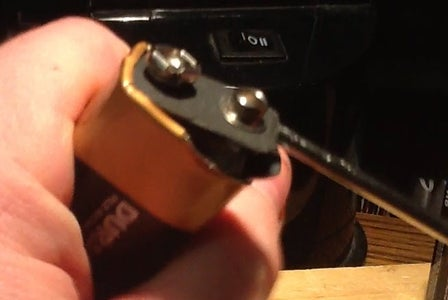 How to Pry Open a 9 Volt for Parts