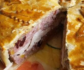 Deep Layered Chicken Pie