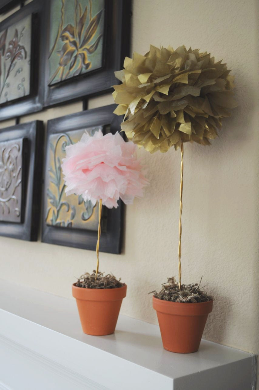 The Everlasting Tissue Paper Topiary 4 Steps