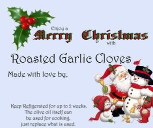 Roasted Garlic Cloves for Christmas Giving