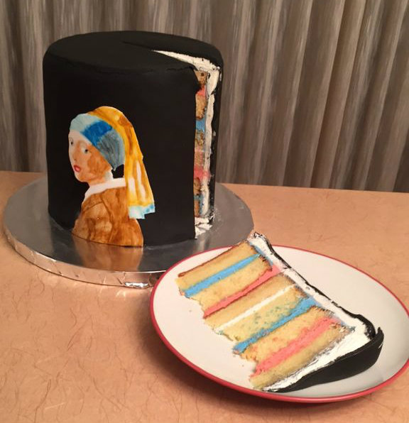 Picture of Girl With a Pearl Earring Cake