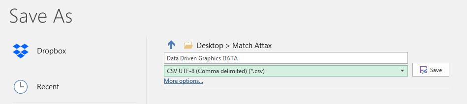 Create the Data Input File.