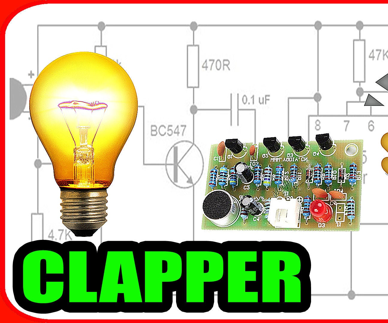 Lets Make A Clap Switch Circuit 5 Steps Project Sound Activated Ii
