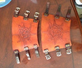 Leather Fore Arm Bracers