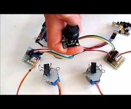 Arduino Nano and Visuino: Control 2 Stepper Motors With Joystick
