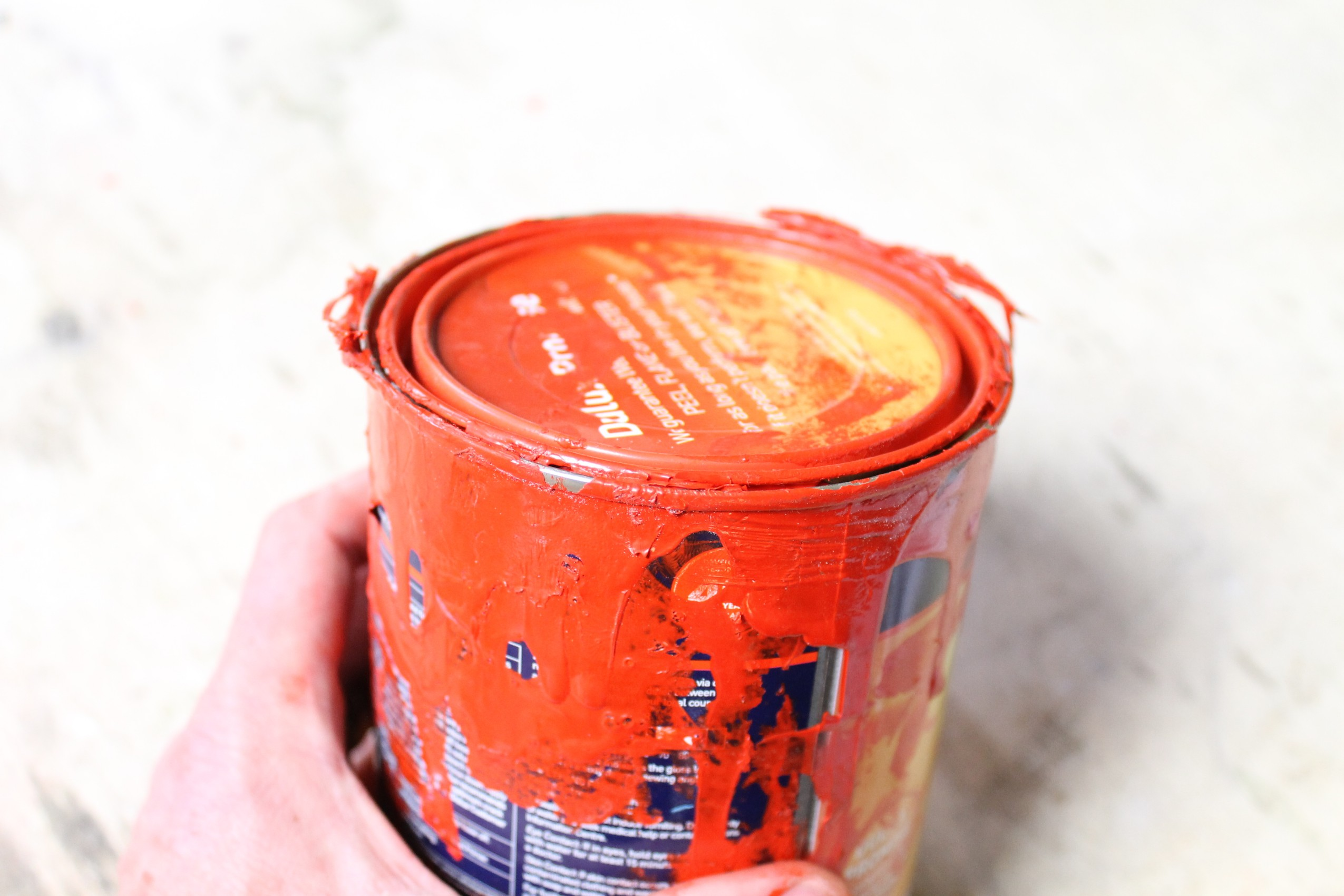 Picture of Sanding the Can and Super-gluing the Lid