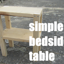 the simplest bedside table