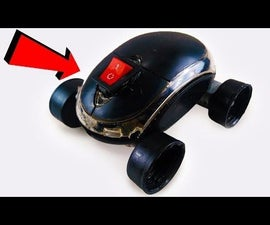 How to Make MINI Electric Mouse CAR Easy Science Project for KIDS DIY at Home