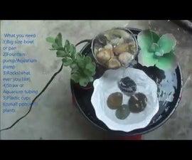 Tabletop Fountain DIY