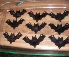 Shrinky Dink Bat Necklaces