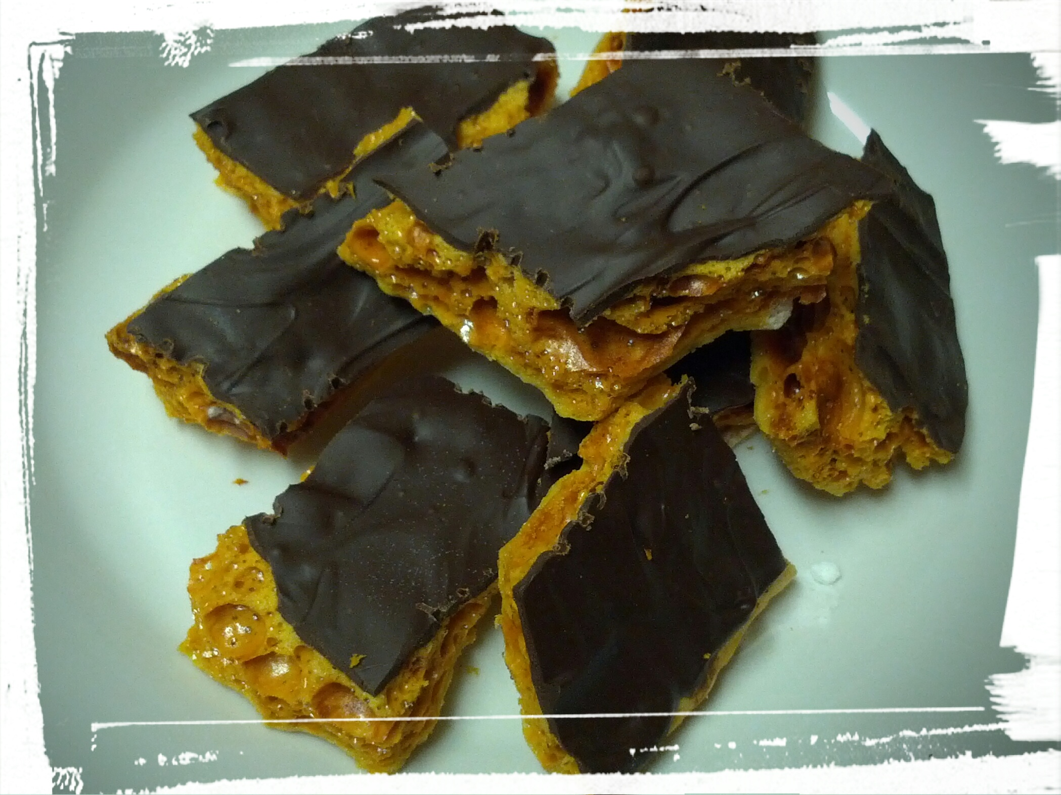 Picture of Chocolate-Covered Honeycomb Candy