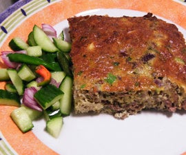"Baked Ground Beef ""Cake"""