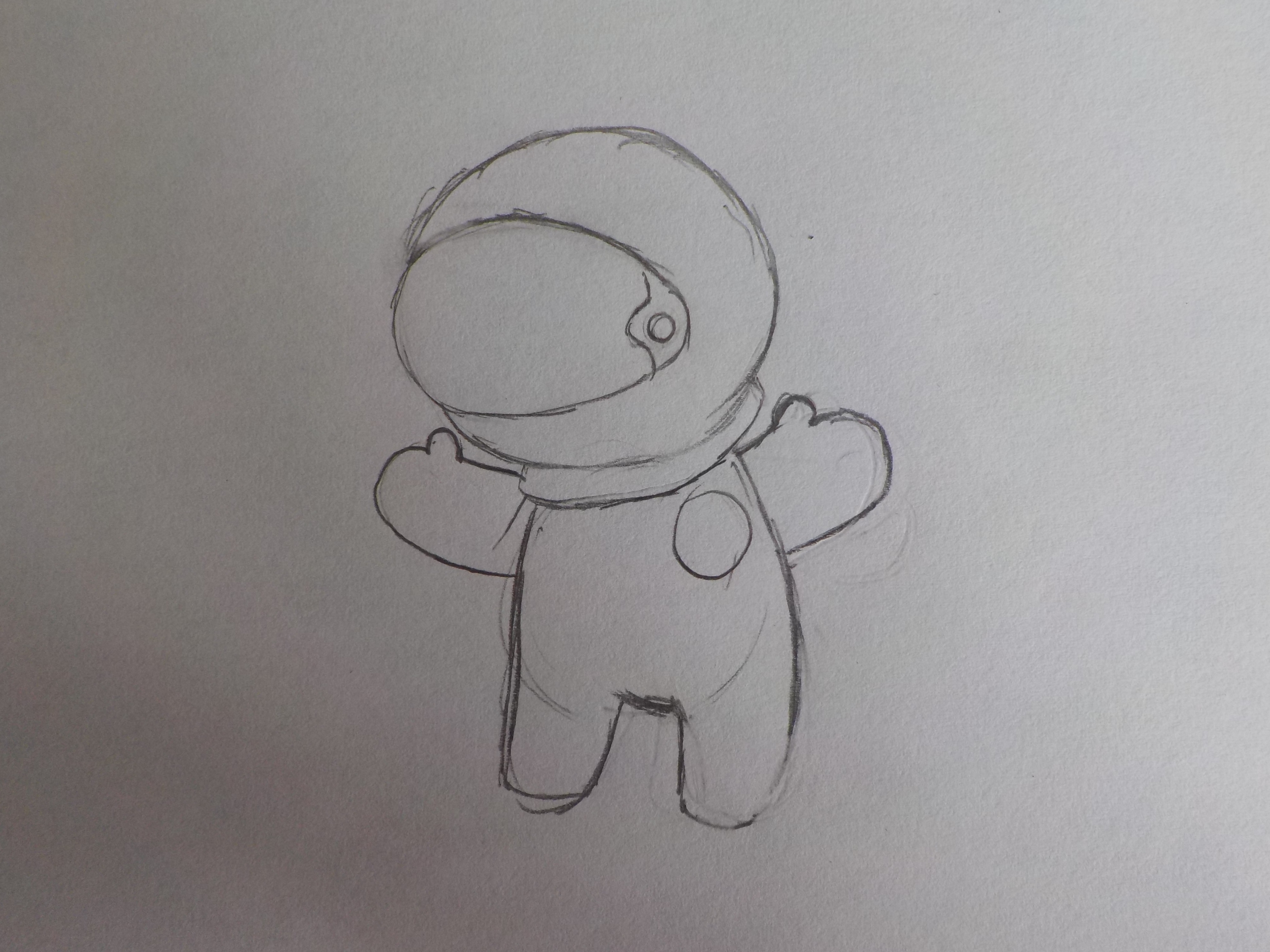 Picture of Step 1: Dibujando El Astronauta/Drawing the Astronaut