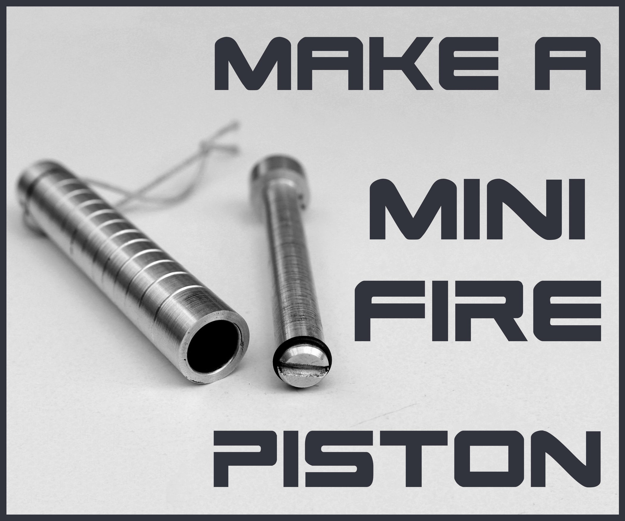 Make A Mini Fire Piston On Lathe 5 Steps With Pictures
