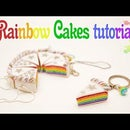 Rainbow Cakes from polymer clay