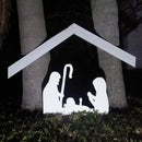 Nativity Scene From One Piece of Plywood & Scrap Wood