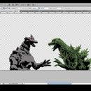 Laser Cut Godzilla vs MechaGodzilla Stencil