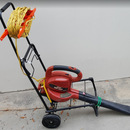 Leaf Blower Rolling Cart Makes Yardwork Faster and Easier