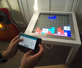 Bluetooth Controlled Arduino LED Coffee Table