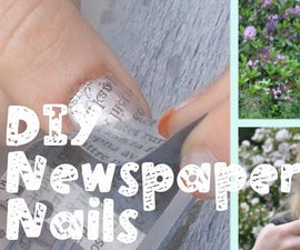 DIY Newspaper Nail Art