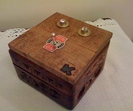 Retro Wooden Guitar Amp A/B Switch Box
