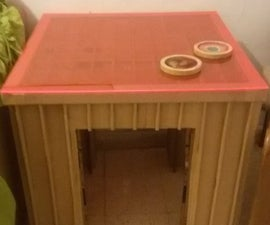 Recycled cardboard table from 3D model