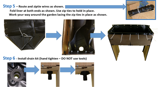 Grow Bed Liner & Drain Kit