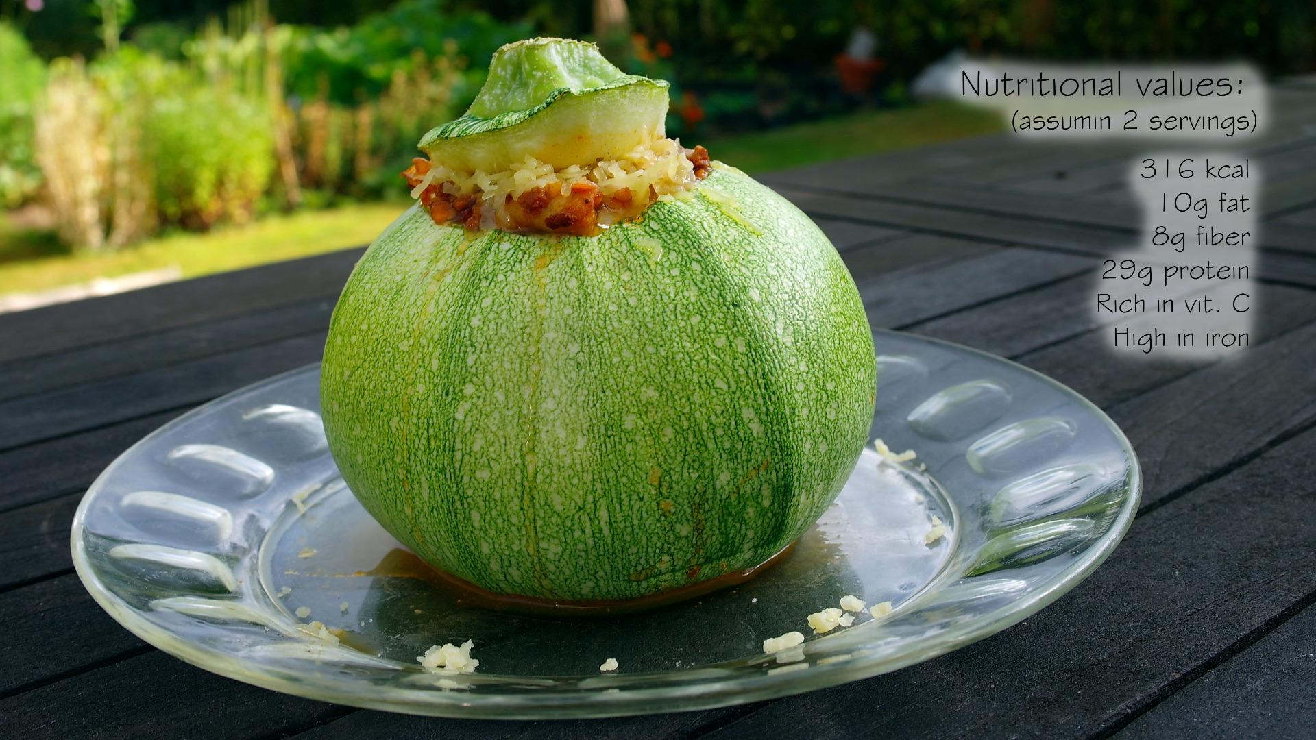 Picture of Courgette (Zucchini) Bowls (GF)