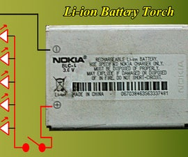 LED TORCH from discarded mobile BATTERY