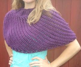 Reversible Knit Capelet/Poncho