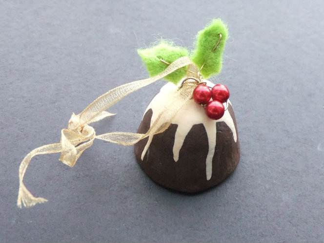 Picture of Christmas Pudding Christmas Ornament