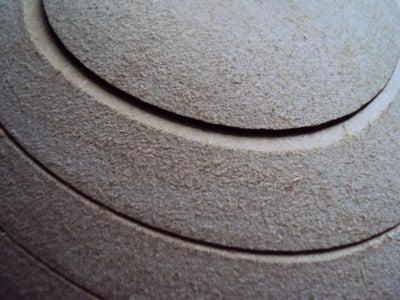 Sanding the Visor Mould