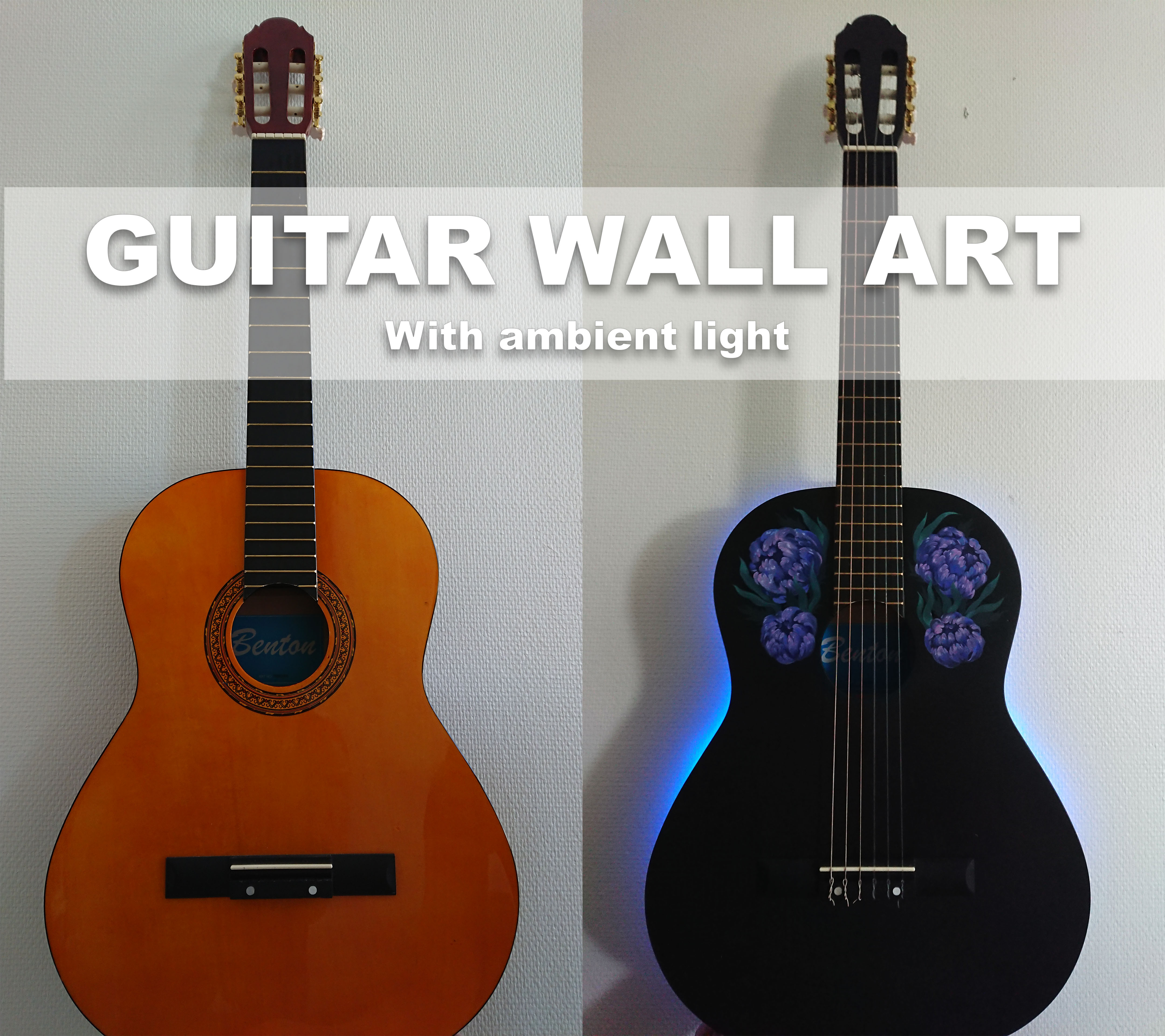 Picture of Guitar Wall Art - With Ambient Light