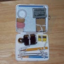 How to make a pocket sized mixed media art box from a plastic first aid kit